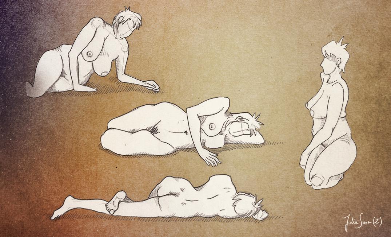 Life drawing (2 min poses) | Julia Sanz Illustration
